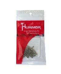 HUMMER สกรูเกลียวปล่อยหัว 4x1/2นิ้ว(25ตัว/แพ็ค) F-HM412  สีโครเมี่ยม
