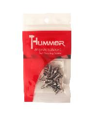 HUMMER สกรูเกลียวปล่อยหัว 7x1/2นิ้ว (25ตัว/แพ็ค) F-HM712 สีโครเมี่ยม