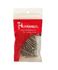 HUMMER สกรูเกลียวปล่อยหัว 8x1-1/2นิ้ว (25ตัว/แพ็ค) F-HM8112  สีโครเมี่ยม