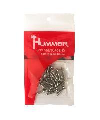 HUMMER สกรูเกลียวปล่อยหัว 6X3/4นิ้ว (25ตัว/แพ็ค)  P-HM634 สีโครเมี่ยม