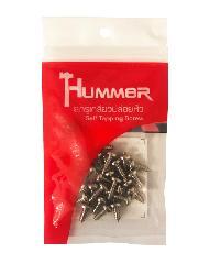 HUMMER สกรูเกลียวปล่อยหัว 8X1/2   (25ตัว/แพ็ค)  P-HM812 สีโครเมี่ยม