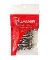 HUMMER สกรูเกลียวปล่อยหัว 10X1นิ้ว (25ตัว/แพ็ค)  P-HM1010 สีโครเมี่ยม
