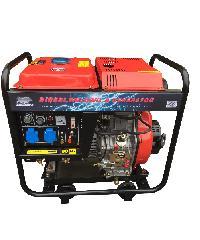 BISON เครื่องปั่นไฟดีเซล 4000W พร้อมเชื่อม  DG-6500CXE-W  สีแดง