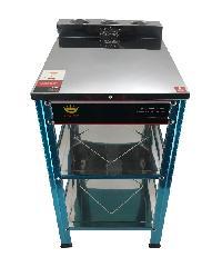 CROWN โต๊ะวางเตาเดี่ยว สเตนเลส  SGT-03N สีสแตนเลส