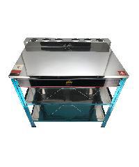CROWN โต๊ะวางเตาคู่  SGT-04N สีสแตนเลส
