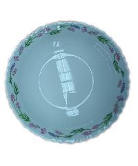 ADAMAS จานก้นลึกโอปอลขอบริ้ว 8.5 HBSP85-500 สีขาว
