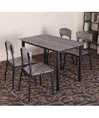 Delicato ชุดโต๊ะอาหาร 4 ที่นั่ง  D01148SC4 สีดำ