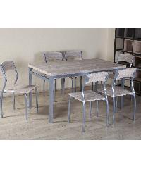 Delicato ชุดโต๊ะอาหาร 6 ที่นั่ง D01002C6 สีขาว