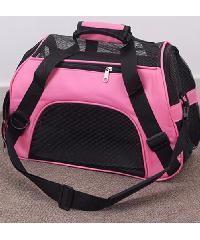 DUDUPETS กระเป๋าใส่สัตว์เลี้ยงแบบพกพา ไซส์ S  ขนาด 30x43x20ซม.   PTC001S สีชมพู