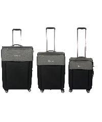 WETZLARS  ชุดกระเป๋าเดินทางผ้า 3 ใบ ขนาด 20 24 28 B-346BK สีดำ