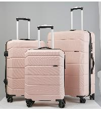 WETZLARS ชุดกระเป๋าเดินทาง ABS  3ใบ  ขนาด 20 24 28   CTH0029 สีชมพู