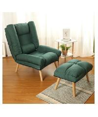 Divano เก้าอี้พักผ่อนพร้อมที่วางขา 72X170X90CM  HD006 สีเขียว
