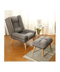 Divano เก้าอี้พักผ่อนพร้อมที่วางขา ขนาด 72X170X90 CM. HD007 สีเทา