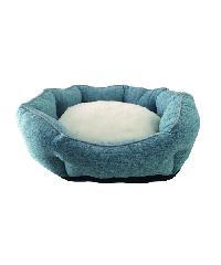 DUDUPETS เบาะนอนสัตว์เลี้ยง ไซส์ M ขนาด 55x55x20ซม.  CW002M สีฟ้า