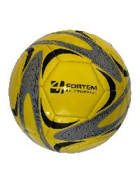 4TEM ลูกฟุตบอลหนังเย็บ PVC เบอร์ 4 ขนาด  Φ20 ซม. สีเหลือง-เทา แถมเข็มก๊าซ  GY-019