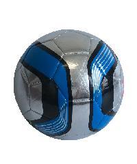 4TEM ลูกฟุตบอลหนังเย็บ TPU เบอร์ 5 ขนาด  Φ21.5 ซม. สีเทา-น้ำเงิน แถมเข็มก๊าซ  GY-353