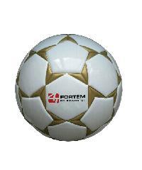 4TEM ลูกฟุตบอลหนังอัด PU เบอร์ 5  ขนาด Φ21.5 ซม. สีขาว-น้ำเงิน แถมเข็มก๊าซ  GY-354