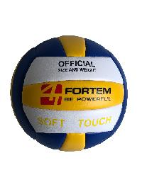 4TEM ลูกวอลเลย์บอลPVC เบอร์ 5 ขนาด Φ20.5 ซม. สีเหลือง-น้ำเงินแถมเข็มก๊าซ  GY-184