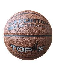 4TEM  ลูกบาสเกตบอล TPU เบอร์ 7 เส้นผ่าศูนย์กลาง 23.8 ซม.  ฟรีเข็มสูบลม FT-113 สีน้ำตาล