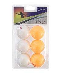 4TEM ลูกปิงปอง 1 ดาว เส้นผ่าศูนย์กลาง 4 ซม. (6 ลูก/แพ็ค). สีขาว-ส้ม SG-9283