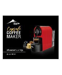 LAMAYON ชุดเครื่องชงกาแฟ+เครื่องตีฟองนม  espresso สีแดง สีแดง