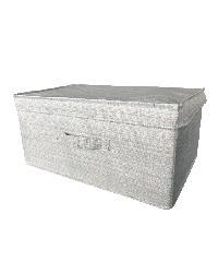 - กล่องผ้าพร้อมฝาปิด CLX001 ขนาด 42x30x19cm  สีเทา