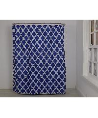 PRIMO ม่านห้องน้ำโพลีเอสเตอร์  DDF017-BU ขนาด 180x180 cm สีน้ำเงิน