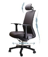 LUXUS เก้าอี้สำนักงาน KLS001-BK สีดำ