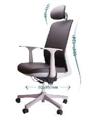 LUXUS เก้าอี้สำนักงาน  KLS001-GY สีดำ