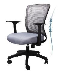 LUXUS เก้าอี้สำนักงาน   KLS003-BK สีเทา