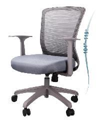 LUXUS เก้าอี้สำนักงาน   KLS003-GY สีเทาอ่อน