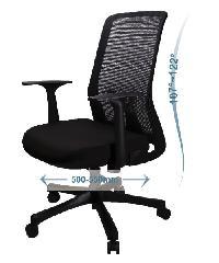 LUXUS เก้าอี้สำนักงาน   KLS006-BK สีดำ