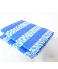 POLLO ผ้าพลาสติกสาน  3y*4m สีฟ้า-ขาว สีฟ้า
