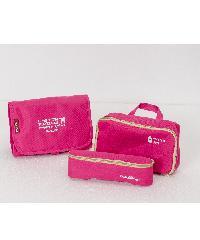 - กระเป๋าจัดระเบียบแยกชิ้นได้   ขนาด 23.5x18x3 cm สีชมพูบานเย็น ZRH-019-FS
