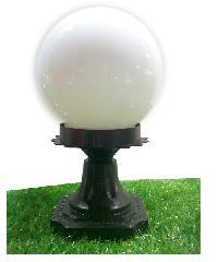 V.E.G โคมไฟหัวเสา แก้วขาว 8 นิ้ว 1035A-W