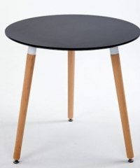 Delicato โต๊ะกาแฟกลม    80X75CM   M1002 สีดำ