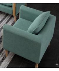 Divano โซฟาผ้า 1 ที่นั่ง  76X83X75CM   M8818 สีเขียว