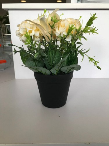 - ดอกไม้เทียม  XJLRD-07-2 สีเหลือง