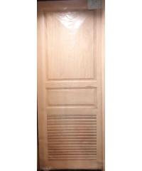 BEST ประตูไม้สยาแดง ขนาด 80x200 cm. GS-27