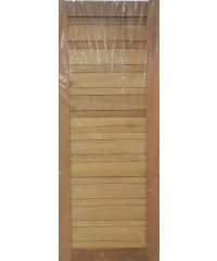 BEST ประตูไม้สยาแดง ขนาด80x200 cm. GS-53