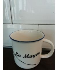 LAMAYON แก้วเซรามิค ขนาด 335ml EH001 สีขาว