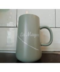 LAMAYON แก้วเซรามิค ขนาด 450ml EHJ006 สีเทา