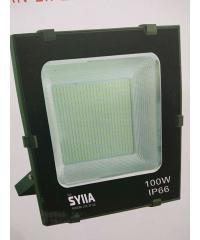 SYIIA โคมฟลัดไลท์ LED เดย์ไลท์  HQ-LT100WTGD65 สีดำ
