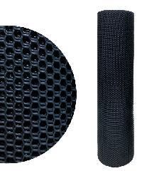 POLLO ตาข่ายพลาสติกหกเหลี่ยม 17มิล 30x0.9ม  PQS-AY029-B สีดำ