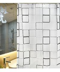 PRIMO ผ้าม่านห้องน้ำ PEVA ลายกราฟฟิก 180x180ซม. DF012