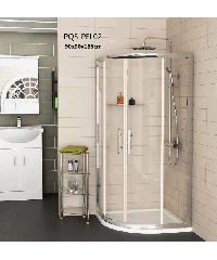HERITAGE ฉากกั้นอาบน้ำแบบบานเลื่อนเข้ามุมโค้ง ขนาด 900x900x1850  PQS-PFL02