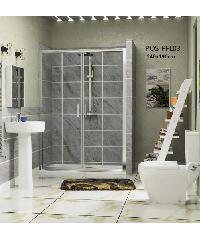 HERITAGE ฉากกั้นอาบน้ำแบบบานเลื่อนด้านเดียว ขนาด 1400x1900 PQS-PFL03