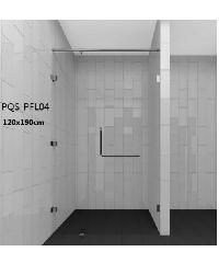HERITAGE ฉากกั้นอาบน้ำแบบบานเปิดด้านเดียว ขนาด1200x1900  PQS-PFL04