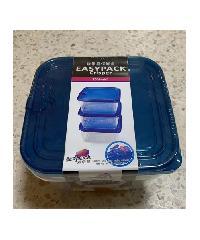 GOME ชุดกล่องอาหารพลาสติกทรงสี่เหลี่ยม 5 ชิ้น/แพ็ค  EHLD501 680ML,2000ML สีน้ำเงิน