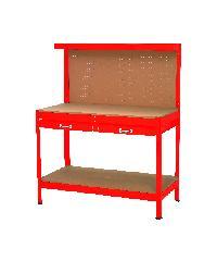 HUMMER โต๊ะเก็บเครื่องมือช่าง 121x61x150 cm YH-WT007 สีแดง